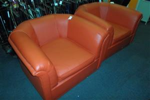 Leatherlike Single Couches