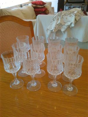Crystal d Arc wine glasses