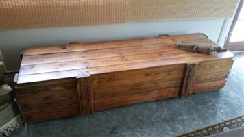 Old pine shipping crate