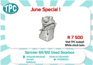 Sprinter 611/612 Used Gearbox for Sale at TPC