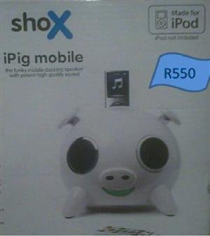 Shox iPig Speaker – As new – Unused, still in box