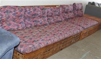 2 piece brown couches S030653A #Rosettenvillepawnshop