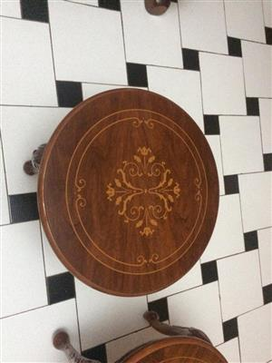 Round Coffee Table New  Wood with design om table top Two off 590 Diameter X 440H  @ R 750