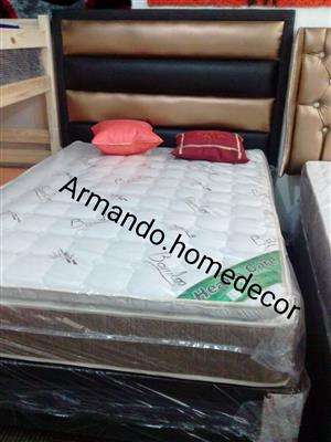 New double Euro top bamboo base and mattress with pillowtop