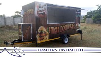 TRAILERS UNLIMITED. 4000 X 1800 X 2000MM MOBILE KITCHEN.
