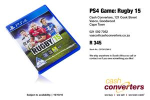 PS4 Game: Rugby 15