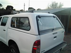 BRAND NEW TOYOTA HILUX D/CAB CANOPY WITH R/RACKS FOR SALES!