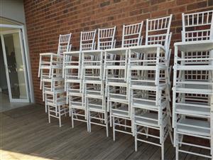 Tiffany chairs, Crockery,  Stretch Tents, Gazebos,Wimbledon chairs, Jumping castles 0737356930