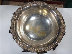 EMESS Vintage Antique Silver plated Punch Bowl