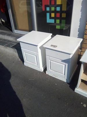 2 white pedestals