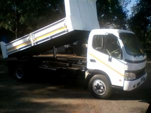 Dyna 4ton tipper truck with dropsides