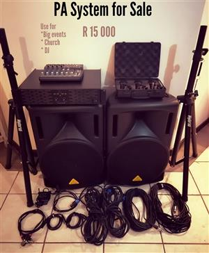 Brand new PA system