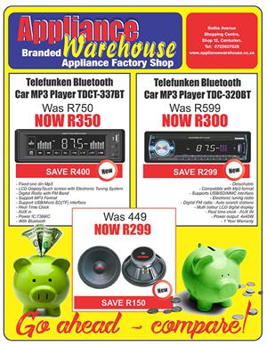 Take A Lot More Home, with our Online Shopping Deals - CAR SOUND ON SALE!