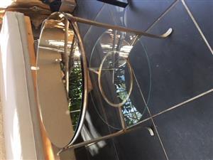 Bronze mirror side tables x w