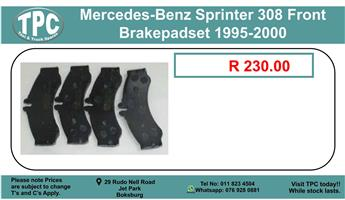 Mercedes-Benz Sprinter 308 Front Brakepad Set 1995-200 For Sale.