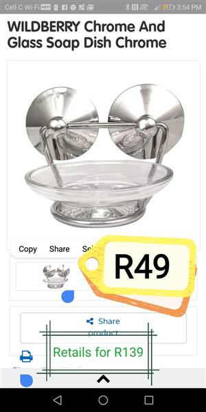 Bathroom and toilet accessories for sale