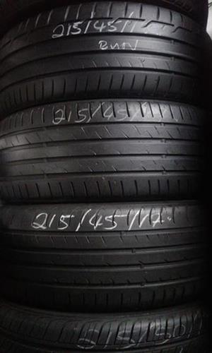 A set of quality used 215/45/17 tyres