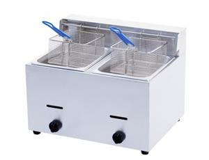 New Double Fryer Gas