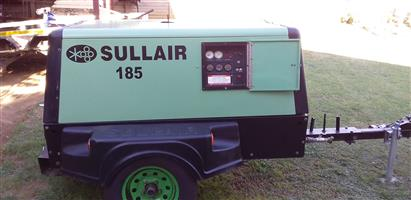 Sullair 185 mobile diesel compressor