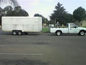 Bakkie and Trailer for Hire