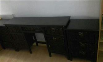 Dark wood Bedside tables and Dresser