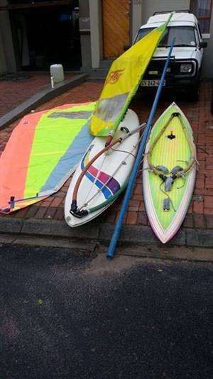 Wind surfers x 2