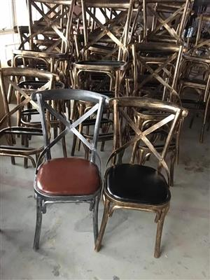 Various brass back and 1 silver back chairs