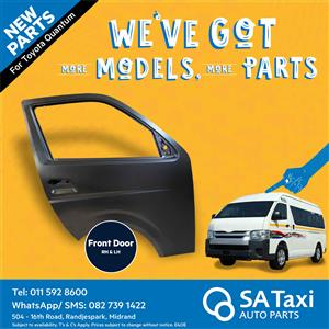 New Front Door suitable for Toyota Quantum - SA Taxi Auto Parts quality spares