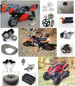 Mini ATV, Pocket Bike, Quad, Pit Bike 49cc 2 Stroke and 125cc 4 stroke spares.