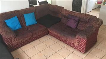 L Shape corner lounge unit and single couch