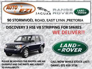 Land Rover Discovery 3 TDV6 AND V8 Stripping for parts