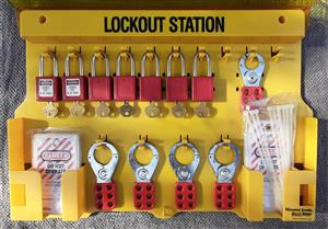 Master Lock Lockout station Secondhand