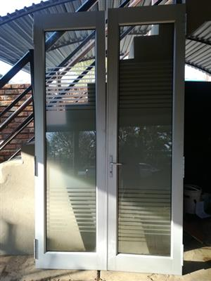 Double Aluminum Door