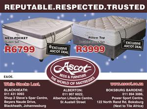 ASCOT BEDS & FURNITURE – REPUTABLE. RESPECTED. TRUSTED. UPCOMING DEALS VALID FROM 28 NOV 2018