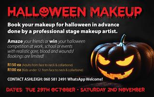 Halloween makeup, stage makeup and special effects makeup