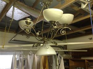 Large chandelier  lounge or entrance hall