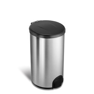 NineStars 45L Automatic Tap Sensor Stainless Steel Kitchen Dustbin