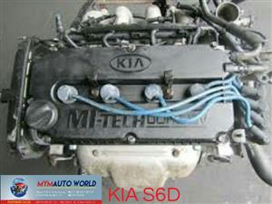 Imported used KIA SPECTRA 1.6L, S6D engine Complete