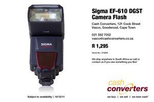 Sigma EF-610 DGST Camera Flash