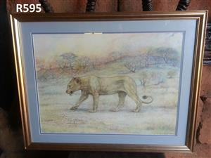 J Nell Lion Watercolor Painting (815x640)
