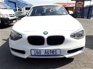 2012 BMW 1 Series 118i 5 door Exclusive