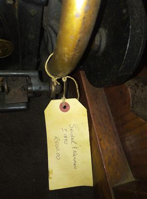 antique sewing machine from the 18th century R500
