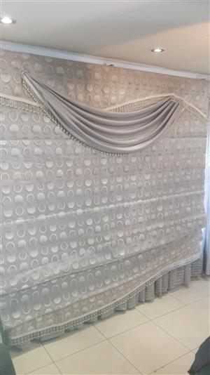 Designer Roll Up Curtains - 2 Units