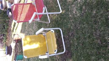 Plastic chairs for camping
