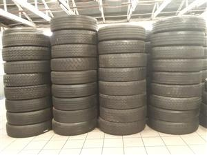 12R & 315 2ND Hand Truck Tyres