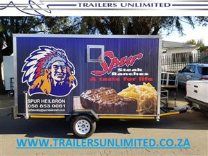CATERING TRAILER 50MM INSULATED PANELS. AFRICA'S #1 MOBILE KITCHENS.