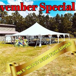 9x9 PVC Tents from R11500