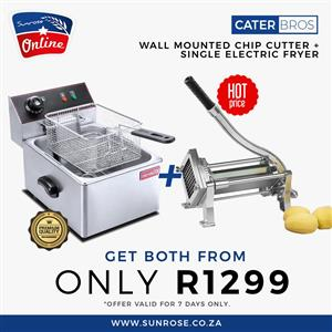 CHIP FRYER COMBO FOR SALE - CHIP CUTTER FOR SALE -FISH AND CHIPS BUSINESS