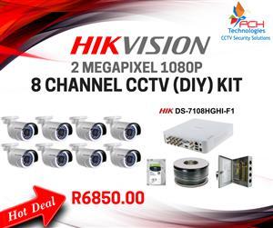HIKVISION 8 CHANNEL (DIY) CCTV KIT