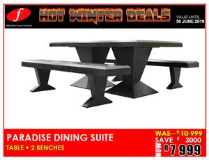 DINING SUITE PARADISE ON PROMOTION FOR ONLY R7 999
